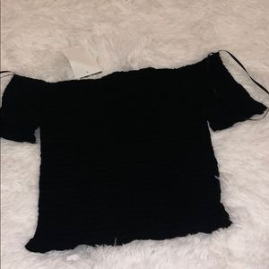 Ambiance: Black off the shoulder Juniors top